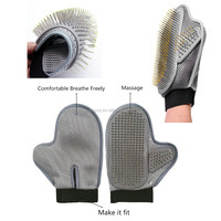 New Products 2018 Innovative Best Quality Fashionable 2-in-1 Pet Massage Brush Glove