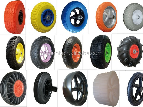 6 inches 3 in 1 stair climbing solid rubber wheel for trolley