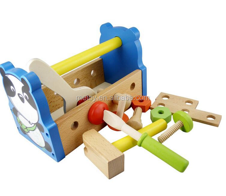 Wooden kids toy educational bricolage tool toy
