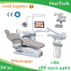 Popular top hand dental chair unit price with many dental accessories: dental autoclave, air compressor, portable dental X ray