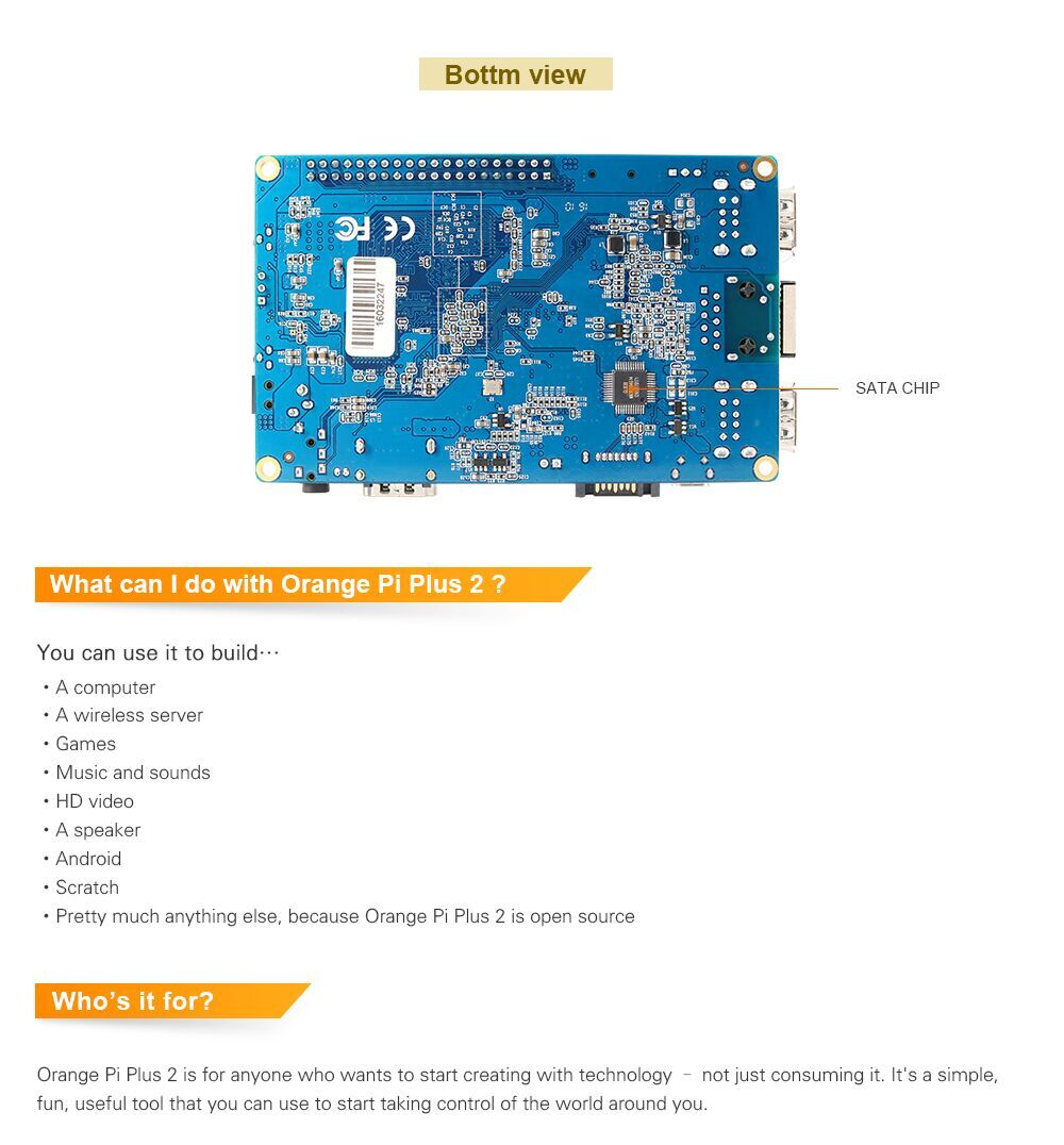 Orange Pi Plus Install Ubuntu Server 16 04 Armbian Image: Orange Pi Plus 2 Set4: Orange Pi Plus 2+ Power Supply