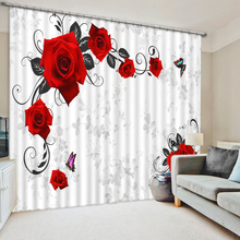 Latest Fashion Designs Royal Big Flower Print 3D Embroidery Office Door Window Curtain For Living Room