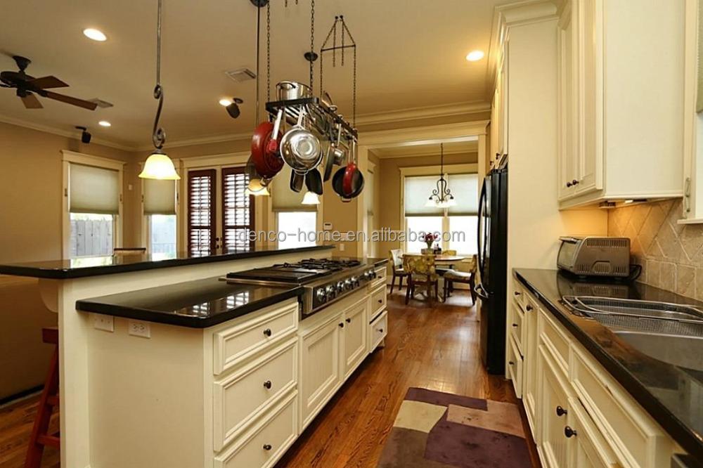 Style am ricain en bois massif armoires de cuisine avec for Armoire de cuisine prix