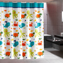 Polyester New Design Anime Cartoon Child Shower Curtain