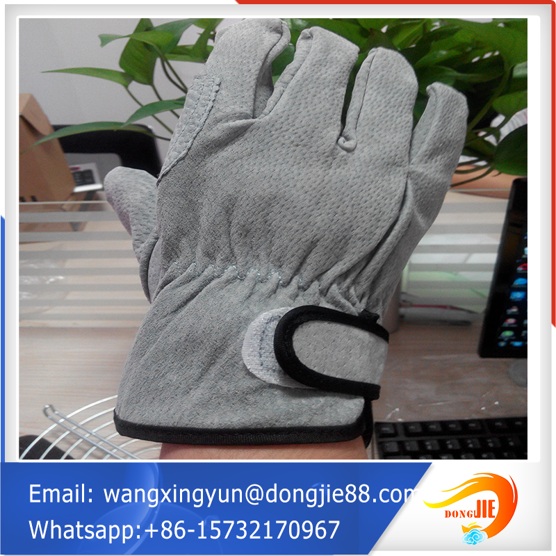 Safety Pallet Packing Leather Welding Gloves/kid Leather Gloves ...