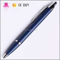 white abd blue custom metal promotional gift nice ball pen for office gift