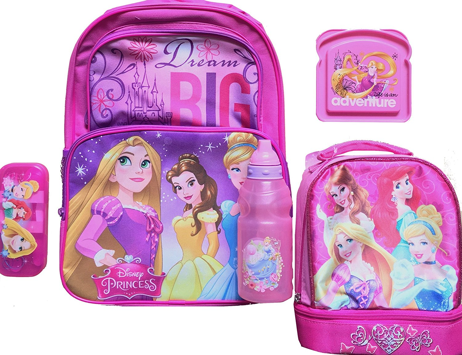 04d5e529a83 Buy Disney Princess Childrens Backpack   Lunch Box Princess Lunch ...