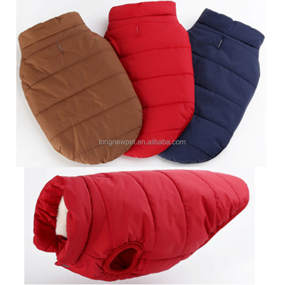 Blank Cotton Winter Jacket Pet Coat for large dog pitbull