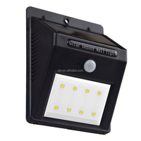 5.5V 0.55W solar wall lights 8 LED PIR sensor motion solar lighting
