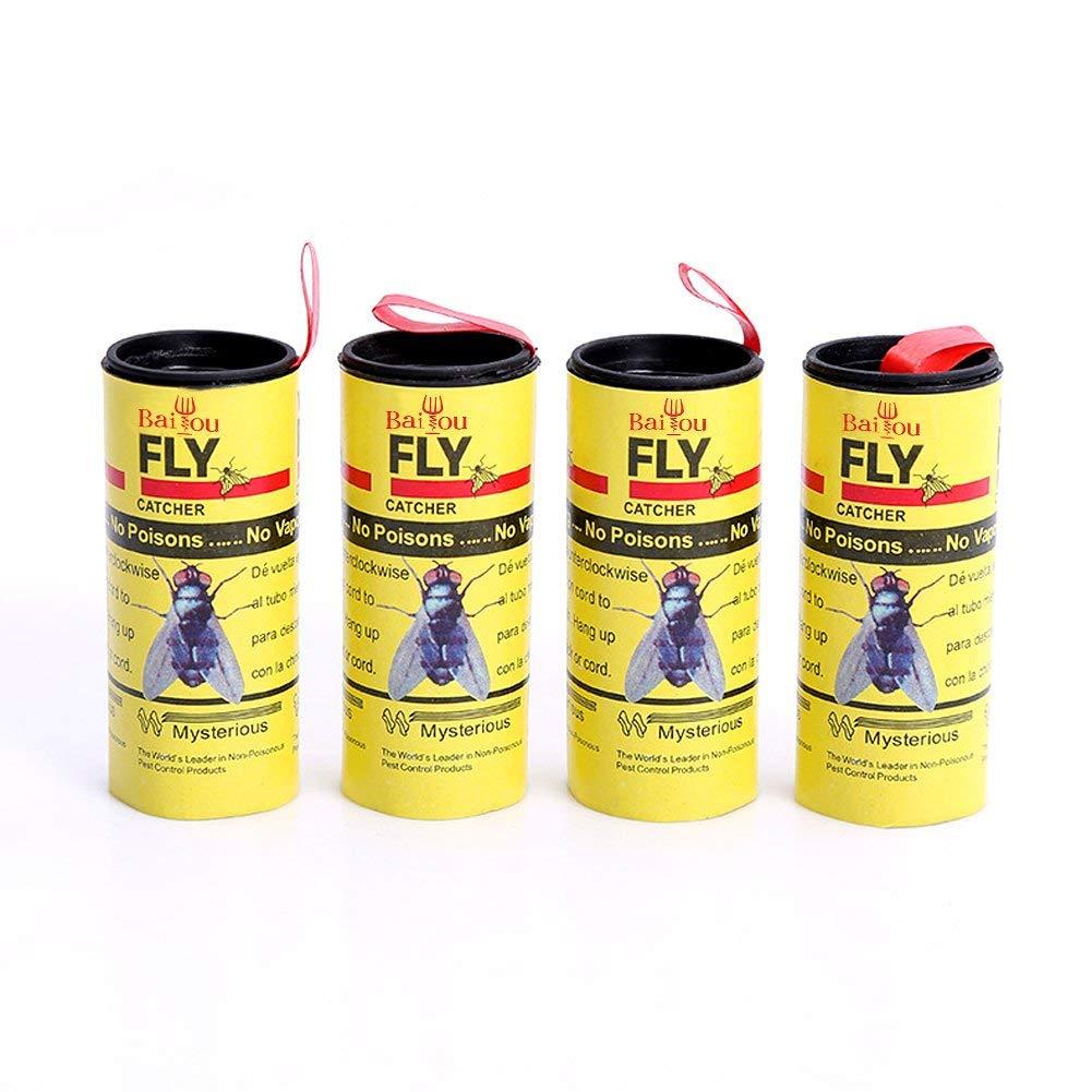 Home & Garden Pest Control Dropship 4 Pcs High Quality Fly Sticky Paper Strip Mosquitos Killer Catcher Flying Insect Control Toxic Flying Insect Catcher
