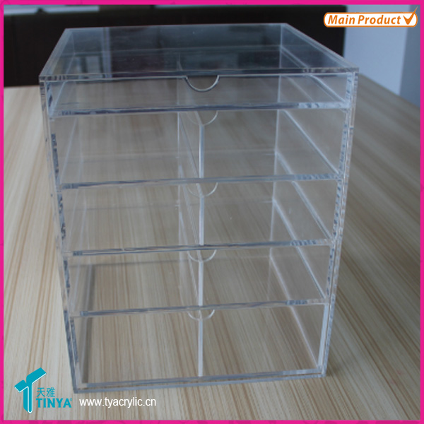 Groothandel Beauty Supply Distributors Drawers Weergave Acryl, Professionele en Goedkope Acryl Cosmetische Laden Organizer