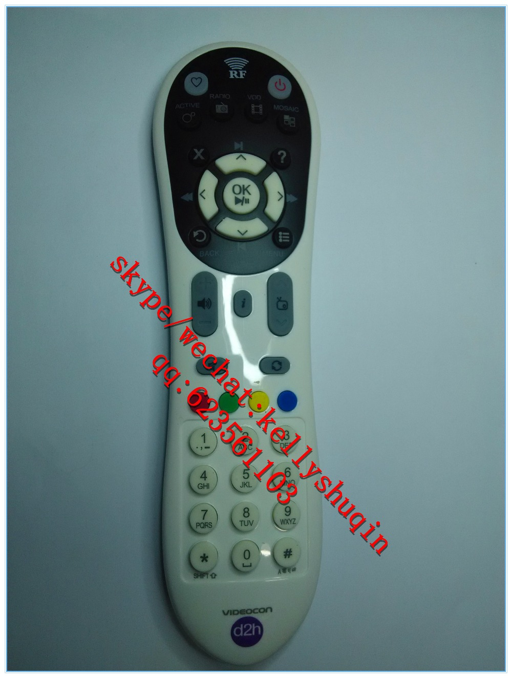 new abs hard ic 38 keys remote control for Videocon-d2h-HD-DVR india  marekt, View UNIVERSAL REMOTE CONTROL for STB and TV LEARNING BLACK D2H, ZF