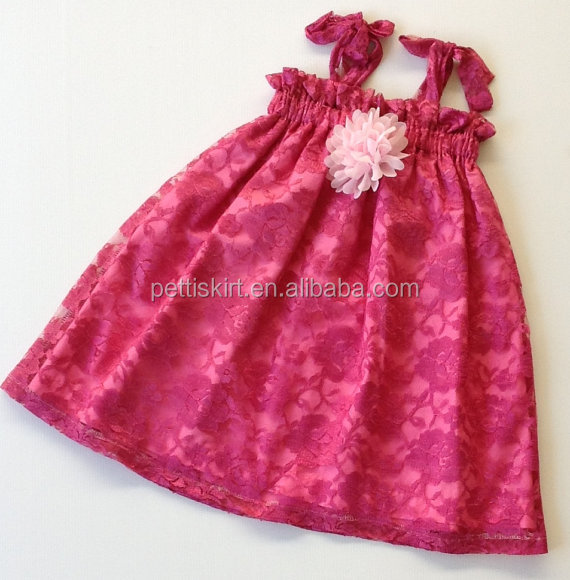 2016 New Design Fashion Baby Clothes Girls Lace Dress