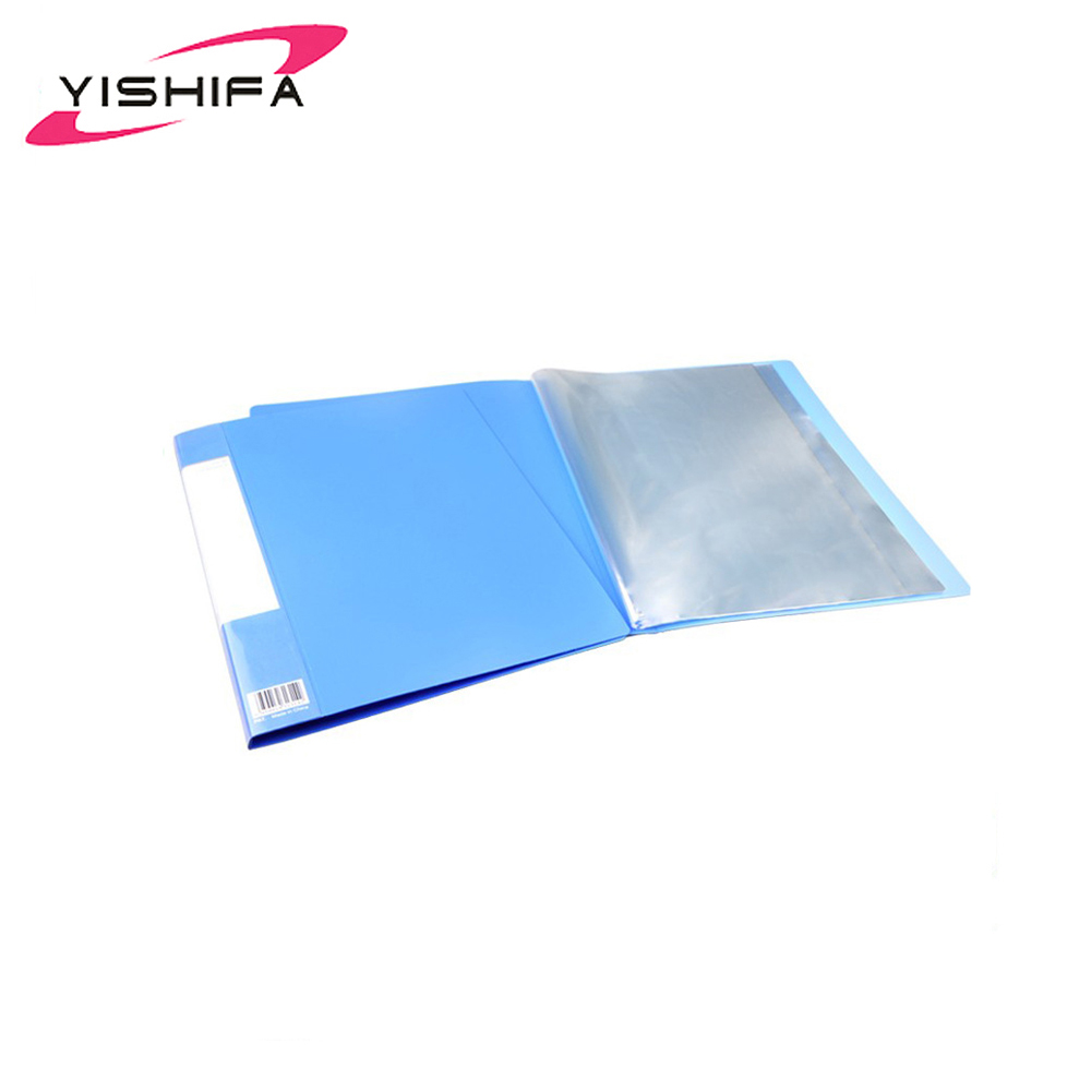 Portable clear plastic A5 gel color 20 pockets display book