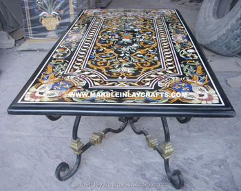 Tavoli Di Marmo Intarsiati : Antico tavolo in marmo top splendido design inlay table top buy
