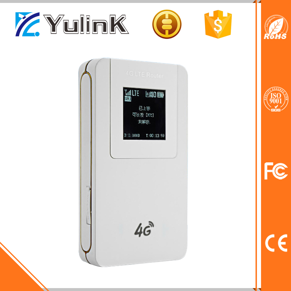 Yulink Best Pocket 4g lte wifi modem Router with 4620mAh Battery and SIM Card Slot