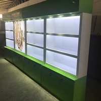 Customized shiny color cosmetic display showcase/makeup display cabinet/perfume kiosk