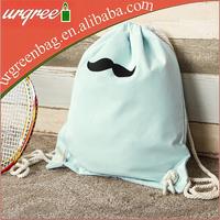 Eco Friendly Cotton Drawstring Backpack Gym Bag