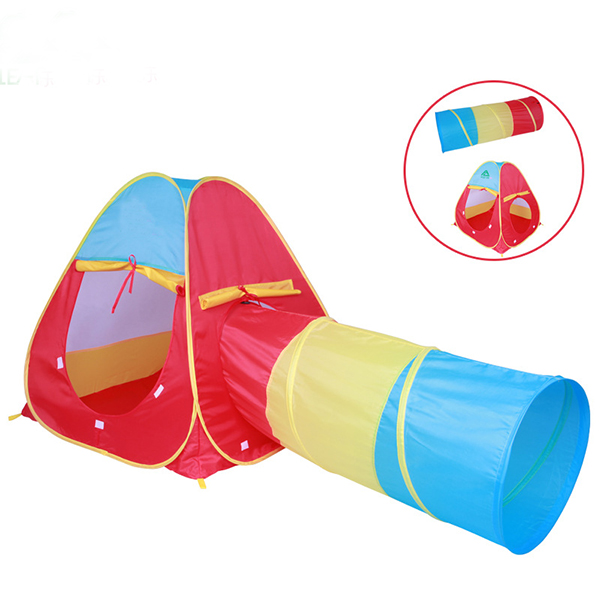 kids play sports conbination tent with tunnel