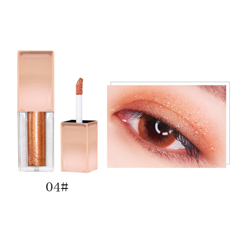Wholesale OEM <strong>Cosmetics</strong> Shiny Eye Shadow Eyeliner Glitter Shimmer Liquid Eyeshadow