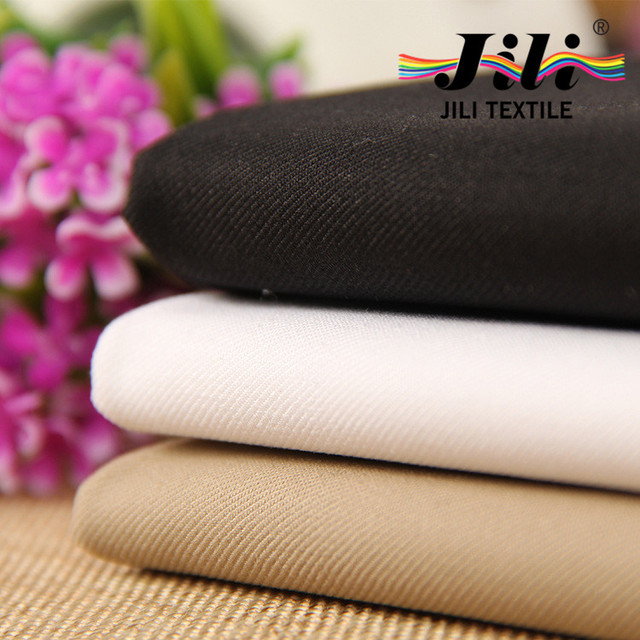white black Twill pants fabric 100% cotton combed Uniform fabric for mens