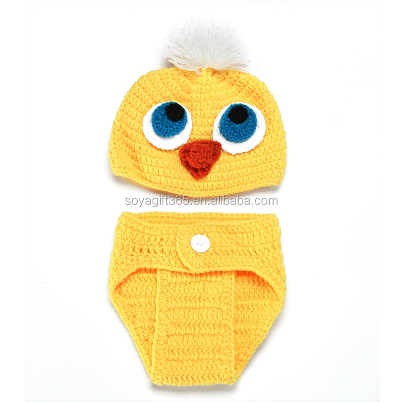 Gelbe Ente Baby Foto Requisiten Hut + Kurzen Satz Kostüm-outfits ...