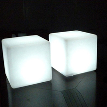 RGBW magic LED light up outdoor furniture, illuminated glowing led cube