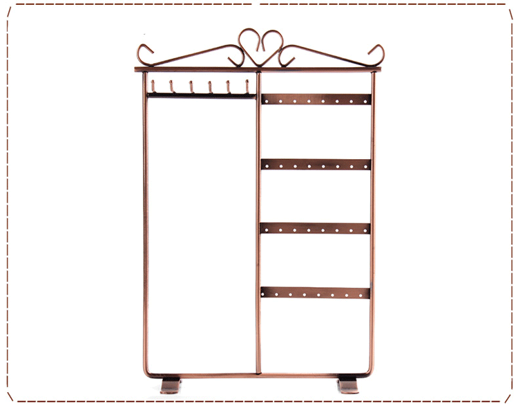 Classic Black/copper Metal Jewelry Holder, Jewelry Stand for Earrings