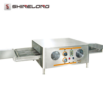 Bakery Equipment Heavy Duty 1/2-Layer Tunnel Cast Iron Electric Conveyor Pizza Oven Used