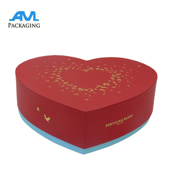 Heart shape logo printed waterproof carton flower rose gift box for valentine's day