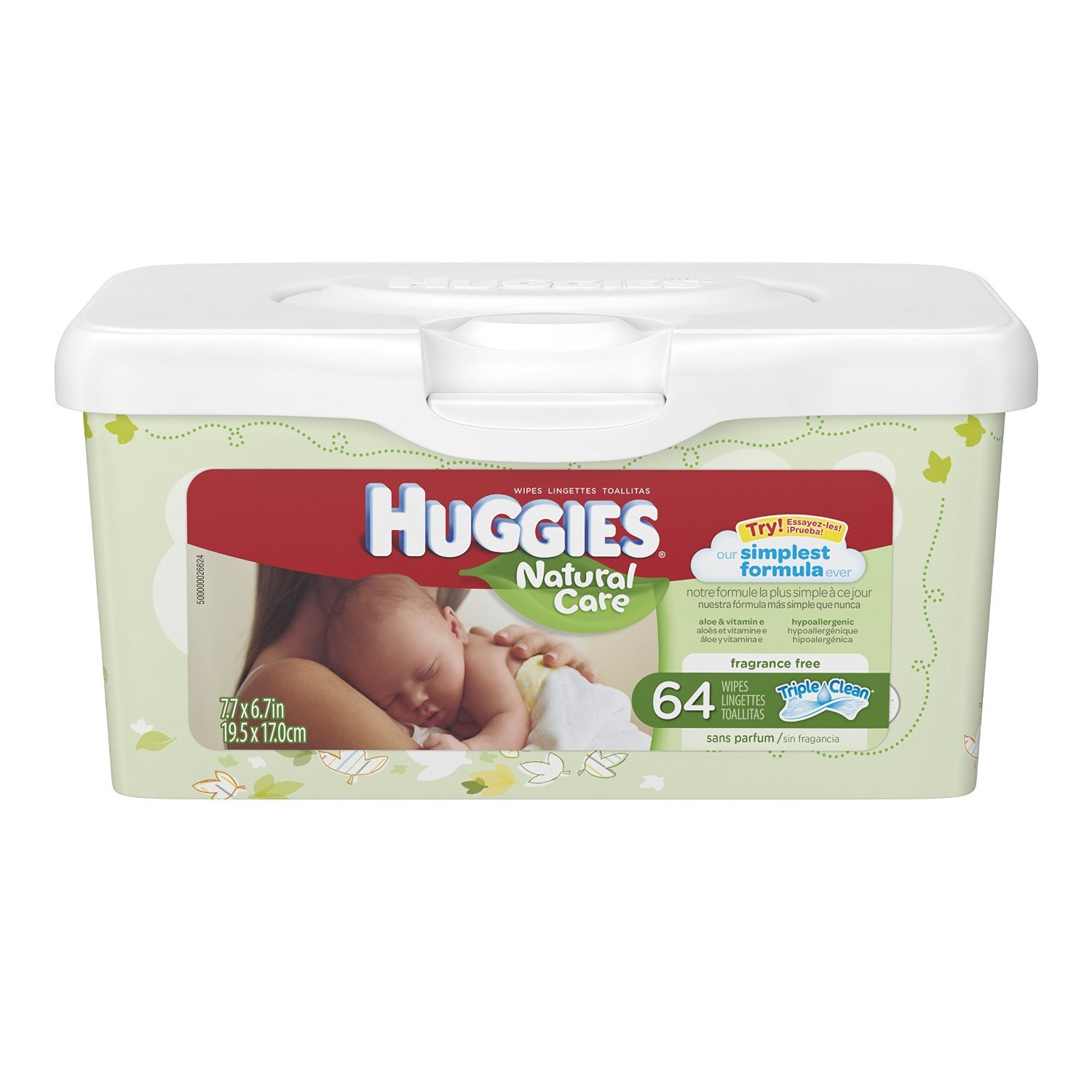 Huggies Natural Care Unscented Baby Wipes Tub - 64ct ( 2-pack)