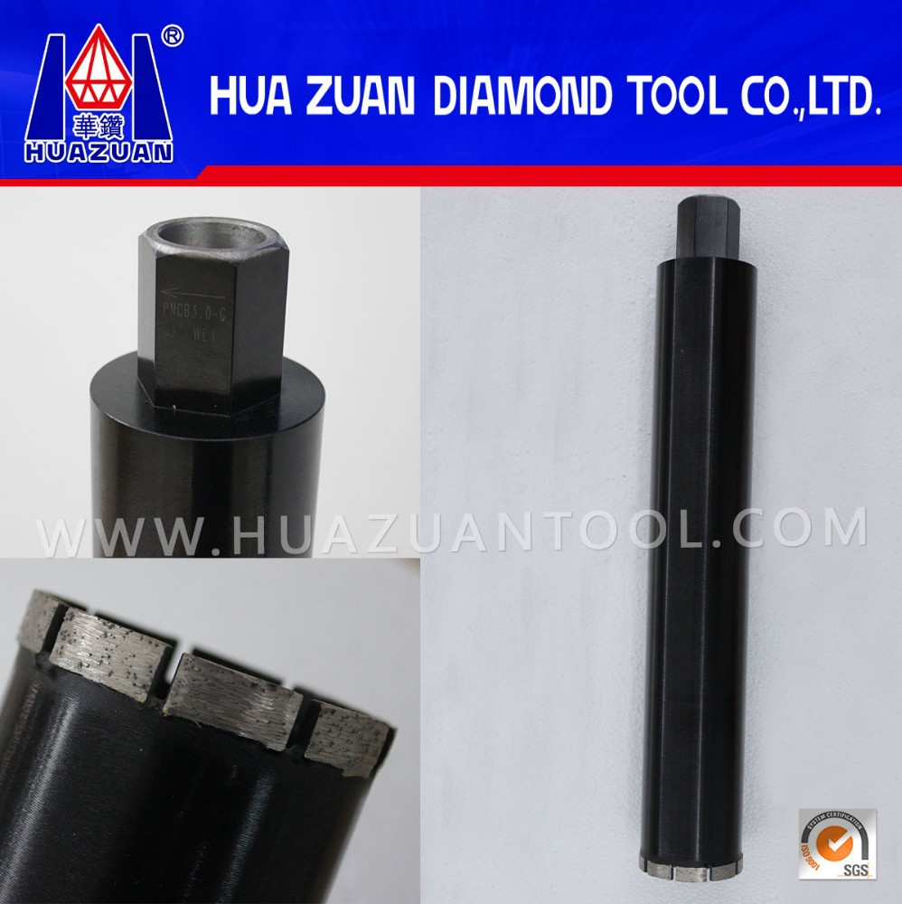 China Huazuan New Black 76mm Diamond Tools Crown Drill Bit For Concrete