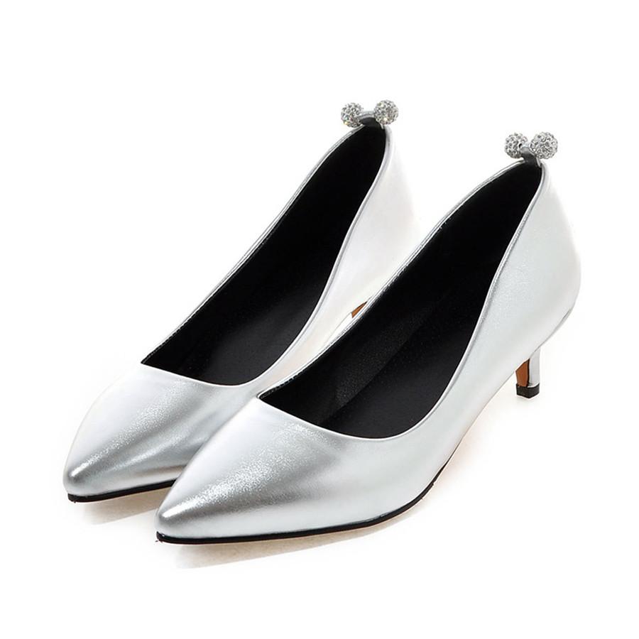 Online Get Cheap Silver Dress Shoes Low Heel -Aliexpress
