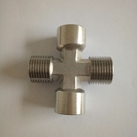 Brass compression fittings brass female cross plumbing pneumatic fitting