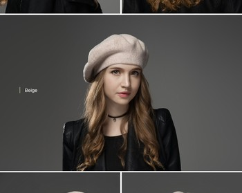 81de5b8d8e789 basque felt ladies girls black red wool knit women winter french beret hat  for sale