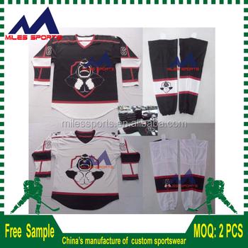 custom sublimation free design reversible boston pizza ice hockey jerseys fba4d1f16