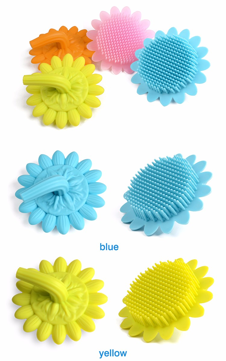 2017 hot sellers baby hair brush soft bath brush silicone body brush