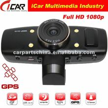 New/Hot, (GS1000)AMB solution 1080P Full HD GPS+G-Sensor+HDMI 1920x1080 30FPS car dvr recorder with gps