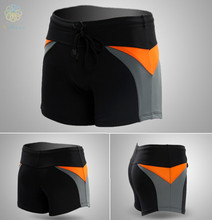 Waterproof sharkskin boxer swimming trunks quick-drying air tight black shorts swimming equipment Human body engineering H-9501