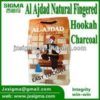 100% nature raw bamboo finger charcoal for shisha