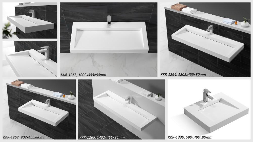 China Lange Smalle Badkamer Wastafel/rechthoek Wassen Sink - Buy ...