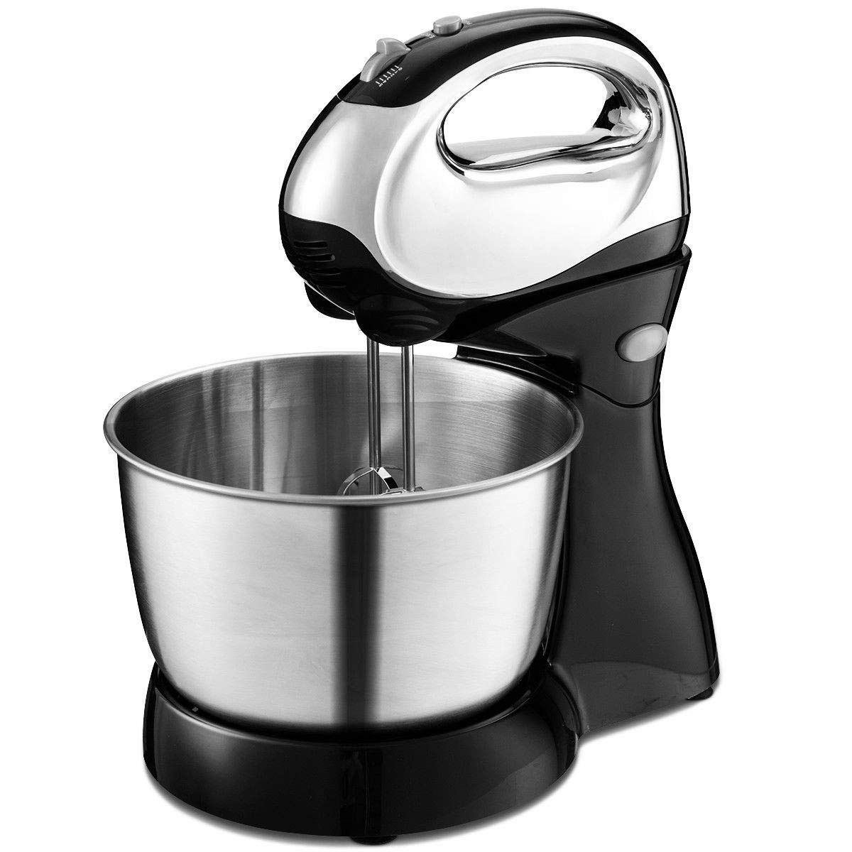 BeUniqueToday 200W 5-Speed Stand Mixer With Dough Hooks Beaters, Convenient Stand Mixer With Dough Hooks Beaters 200W 5-Speed, 200 Watts Motor 5-Speed Stand Mixer With Dough Hooks Beaters