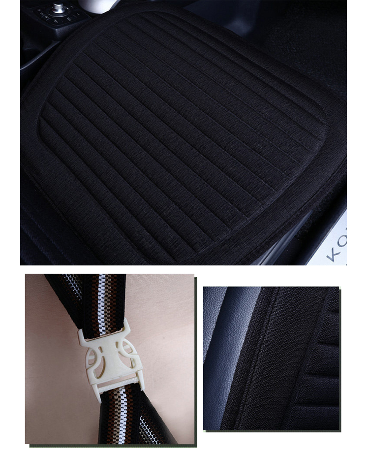 ZD-B-143 Flax car Seat cushion cover Breathable colorful car seat covers universal