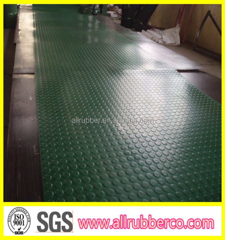 3mm 6mm Coin Round Rubber Floor Mat Yellow Black Green