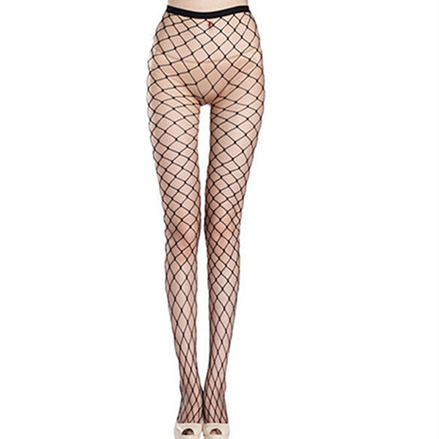 ce0bc9ea9a5 Get Quotations · JYS Women Sexy Fishnet Hollow Pantyhose Punk Stockings  Stretchy Tights
