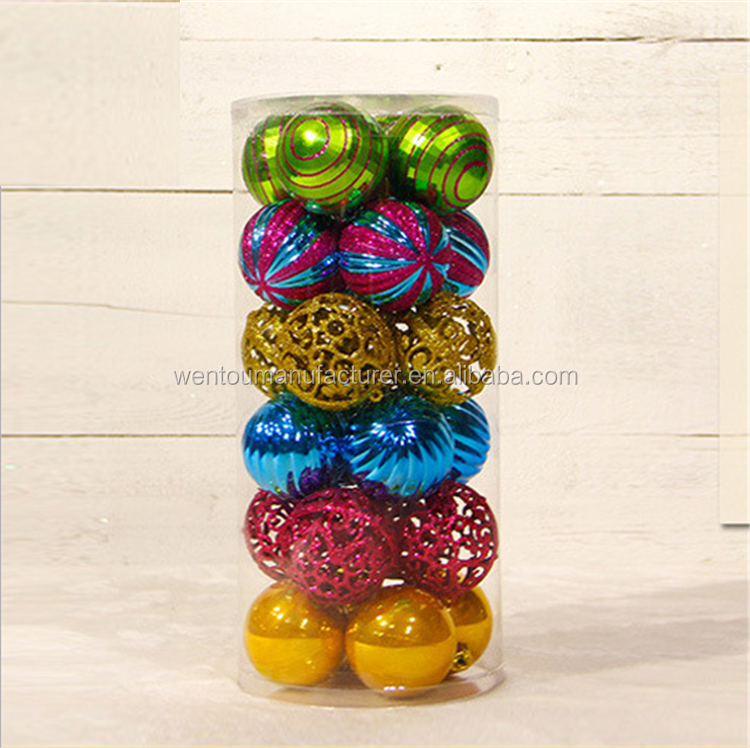 Dazzling Colorful 6cm Diameter Printable Christmas Balls