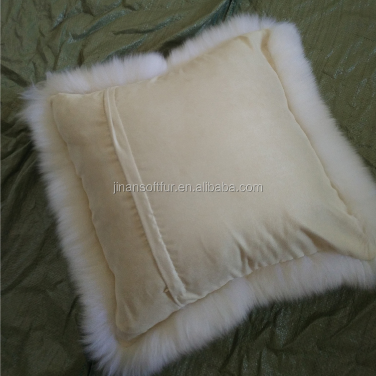 Genuine Australian home decor lamb fur floor cushion
