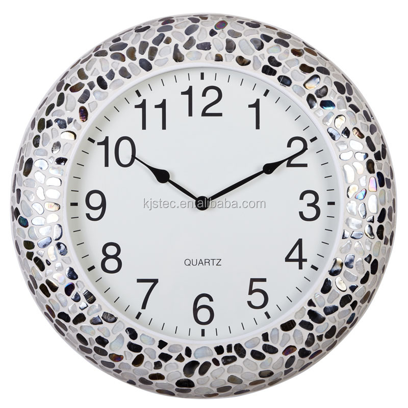 Metal with glass mosaic wall clocks with chimes