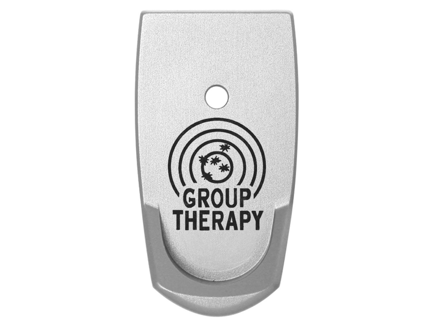 Group Therapy Target Grip Extension Floor Base Plate V2 Silver Silver for S&W Smith & Wesson Shield 9mm .40