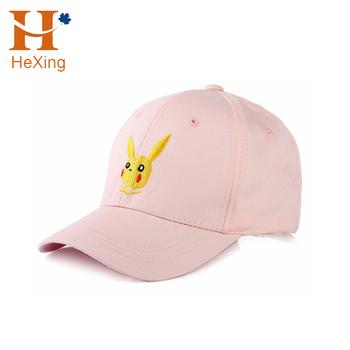 Factory Customized Pokemon Hats 6 Panel Embroidery Pikachu Pokemon Baseball  Cap df35986b2f99
